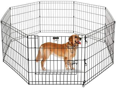 XL: Height 107cm dytrading Pet Dog Pen Dog Playpens Cat Rabbit Foldable Playpen Indoor//Outdoor Enclosure Run Cage
