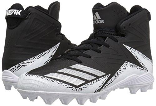 Pictures of adidas Men's Freak X Carbon Mid Football Shoe, Black/Metallic Silver/White, 9.5 Medium US 4