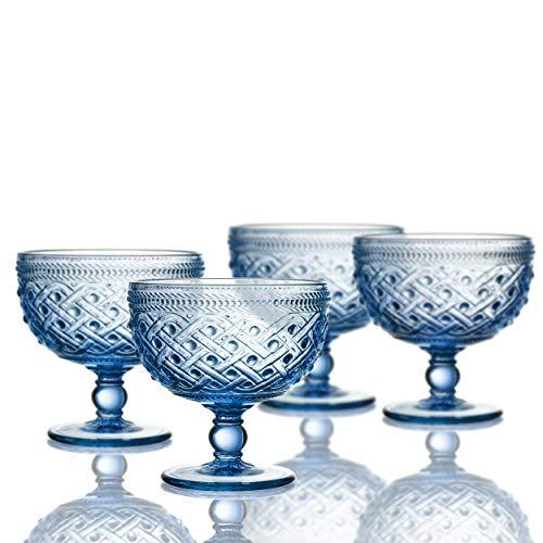 Elle Decor 229807-4PBBL Bistro Ikat Pedestal Bowls, 4.3