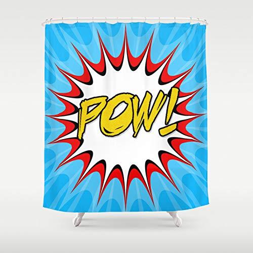 Cartoon Print Shower Curtain