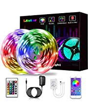 LED Strip Lights, KIKO Smart Color Changing Rope Lights SMD 5050 RGB Light Strips with Bluetooth Controller Sync to Music Apply for TV, Bedroom, Party and Home Decoration
