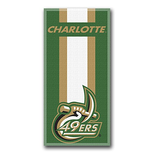 (UNC - Charlotte OFFICIAL Collegiate, Zone Read 30 x 60 Beach Towel - by The Northwest Company)