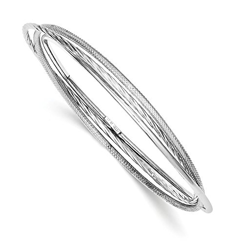 925 Sterling Silver Twisted Textured Intertwined Bangle Bracelet Cuff Expandable Stackable Slip On Fine Jewelry Gifts For Women For Her