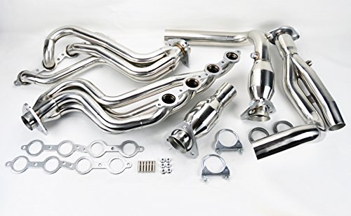 (Chevy Avalanche Silverado Sierra Tahoe 00-06 4.8L 5.3L V8 Stainless Headers w/Y Pipe)