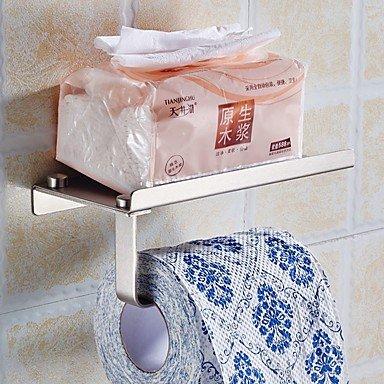 VLIMG 2pcs portarrollos de almacenamiento de acero inoxidable baño cocina dispensador de toallitas de papel toalla