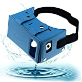 Sminiker Waterproof Google Cardboard Kit,PU leather DIY 3D Glasses,3D Vr Virtual Reality Glasses ,Google Box for iPhone Samsung and Other 4.0-5.5