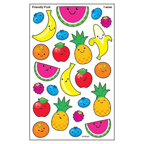 - TREND enterprises, Inc. Friendly Fruit superShapes Stickers-Large, 192 ct