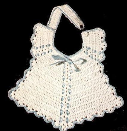 Amazon Vintage Crochet Pattern To Make Baby Bib Christening