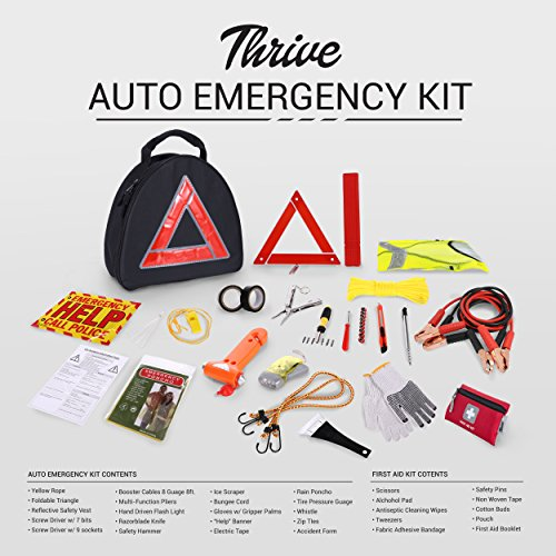 Thrive Roadside Assistance Auto Emergency Kit First Aid