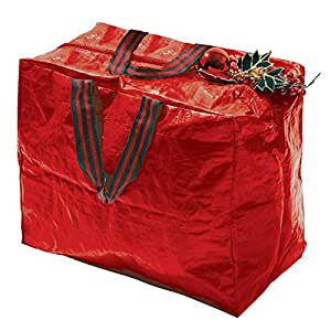 Christmas Decorations Storage Bag Polyethylene Green
