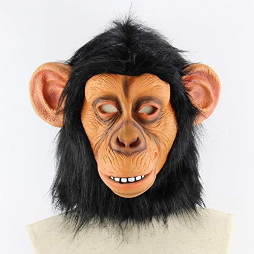 FayOK Halloween Costume Latex Funny Gorilla Mask Animal Mask Adult Size -