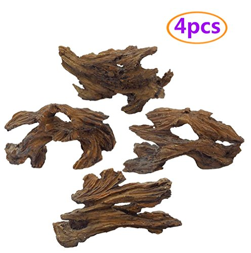 Tfwadmx Aquarium Resin Driftwood Decoration, Log Hide Aquarium Decorations, Fish Tank Wood Decor Freshwater Ornament