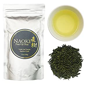 Authentic Naoki Sencha Japanese Green Tea Grown in Uji, Kyoto 3.5 oz (100g)
