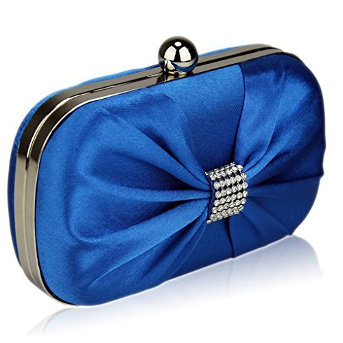 Satin purse Clutch Wedding LeahWard Out Diamante Blue Luxury Purse Ceremony Beads Night Clutch For Clutches Women's Handbag w6xCqZFaw