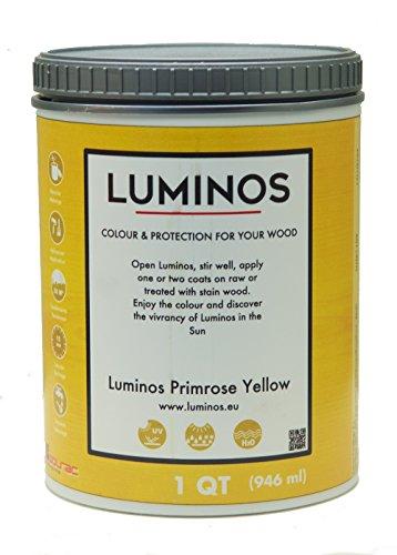 Luminos LUM1109 – Outdoor Wood Stain Finish Protector - Color Primrose Yellow - Quart
