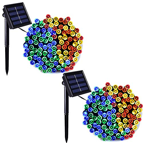 Solar Panel Christmas Lights Outdoor in US - 6