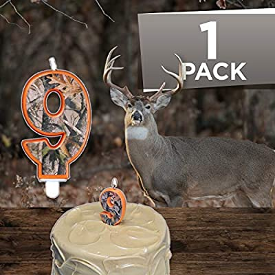 Camo Birthday 3 Inch Number