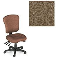 Office Master PA Collection PA55 Ergonomic Superior Task Chair - No Armrests - Grade 1 Fabric - Spice Nutmeg Brown 1163 PLUS Free Ergonomics eBook