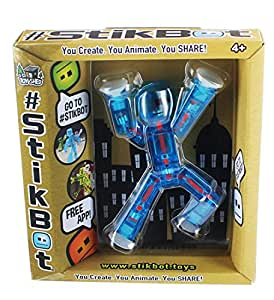 Stikbot, Translucent Light Blue Stikbot Figure, 3 Inches