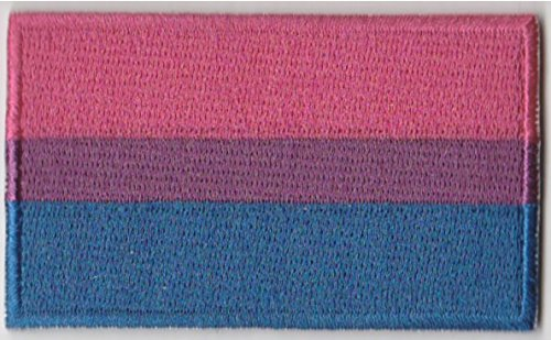 0.5 Flags - Bisexual Flag Iron On Patch 2 1/2