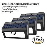 Motion Sensor LED Solar Lights, MerryNine Oyster White Cover 45 LED 800 ...