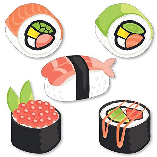 (Big Dot of Happiness Let's Roll - Sushi - DIY Shaped Japanese Party Cut-Outs - 24)