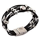 Trades by Haim Shahar Loni Leather Bracelet MB670BB handmade in Spain magnetic clasp designer
