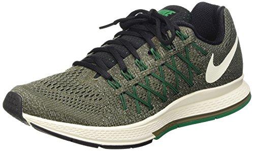 design intemporel f19e0 787bb NIKE Men's Air Zoom Pegasus 32 Running Shoes (8.5 D(M) US, Grey/Green/White  Color)