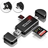 GiBot USB Type C Micro USB OTG Adapter Memory Card Reader for SD, Micro SD for Samsung, Huawei, Android Smartphone, Macbook and PC Laptop