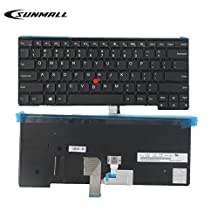 SUNMALL Keyboard replacement with Frame for Lenovo ThinkPad T431 T431S E431 T440 T440P T440S E440 L440 T450 T450S T460 T460P L450 T440E series laptop US Black Layout(6 Months Warranty)