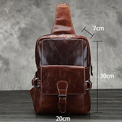 First Backpack Calidad Durable Mens Sling Shoulder Layer Bag Lightweight Cowhide Alta Zhuhaitf Chest ZXcqw7BRR