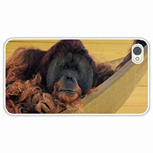 diy zhengiphone 5c Black Hardshell Case hammock wool orangutan straw White Desin Images Protector Back Cover