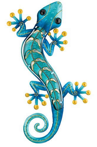 (Regal Art & Gift Gecko Wall Decor, 18-Inch, Blue)