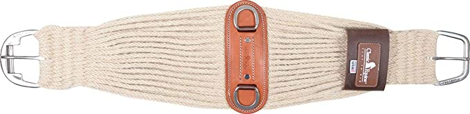 Made in USA Horse Western 27-Strand Mohair Roper Cinch w//Side Leathers 9707