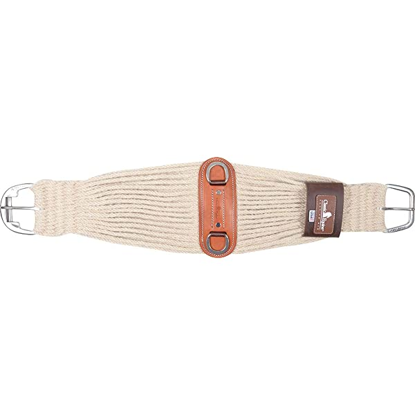 Classic Equine 100/% Mohair Roper Cinch Leather Center