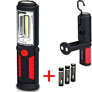 LED Work Light Flashlight for Home, Auto, Camping, Emergency Kit, DIY & More - Ultra-Bright Flood Light, Batteries Included (1-Pack)