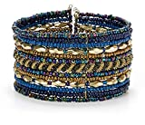 SPUNKYsoul Cuff Bracelets for Women Collection (Blue/Gold)