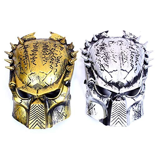 Party Masks - Iron Warrior Masks Man Supper Alien Predator Mask Movie Prop Avpr Lone Wolf Full Face Party - Superhero Couples Kids Animal Men Bulk Props Holloween On Adults]()