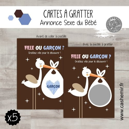 r/éf.7 Version Gar/çon annonce originale sexe gar/çon lot de 5 cartes Cartes /à gratter annonce sexe du b/éb/é