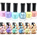 6 New Kleancolor PASTEL SUMMER COLLECTION LOT Nail Polish Lacquer Colors + FREE EARRING