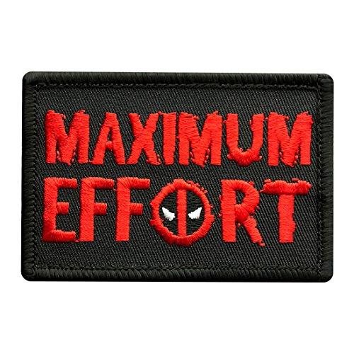 - Maximum Effort Deadpool Tactical Morale Hook Patch (3.0 X 2.0 MXE4)