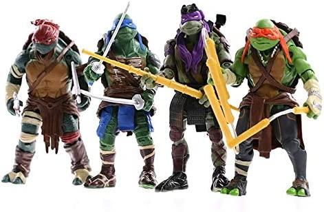 TMNT Teenage Mutant Ninja Turtle Dolls Adecuado Para Autos Escritorios Decoración De Sala De Estar 15 Cm (4 Estilos),Green-15cm