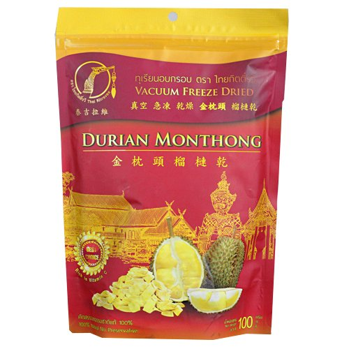 - Kitravee Dried Freeze Durian Thai Snack Monthong