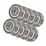 10 Bearing R8ZZ 1/2 x 1 1/8 x 5/16 Shielded Inch
