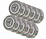10 Shielded Bearing R3ZZ 3/16 x 1/2 x 0.196 inch Miniature Ball