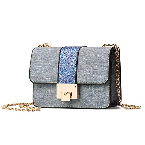 Size al mujer Bolso Sabarry azul para gris y One hombro Multicolor qZwII5v