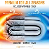 Weighted Throw-Blanket Twin Size 15-lbs - Glass