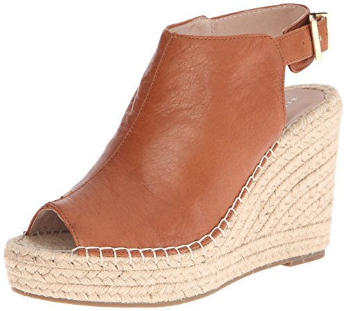 Kenneth Cole New York Women's Olivia Espadrille Wedge Sandal, Medium Brown, 7 M US