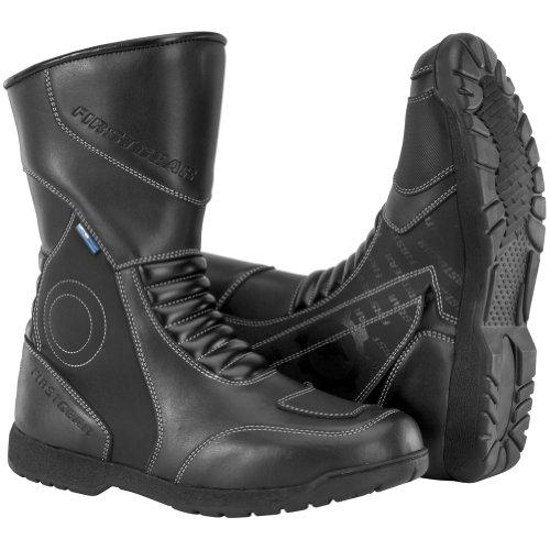 FirstGear Kili Hi Men's Leather Street Racing Motorcycle Boots - Black / Size 7