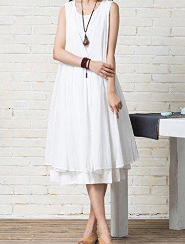 MatchLife - Vestido - vestido - para mujer blanco